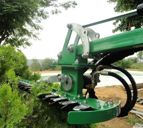 180 cm hydraulische heckenschere amd f r traktor bagger. Black Bedroom Furniture Sets. Home Design Ideas